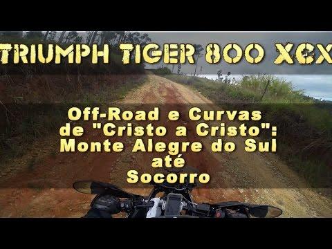 Off Road e Curvas de Cristo a Cristo | Monte Alegre do Sul até Socorro | Tiger 800 XCx uphill