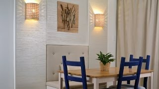 Dining room makeover: DIY wall décor with wall panels Season 2, Ep 5 part 3 - YouTube