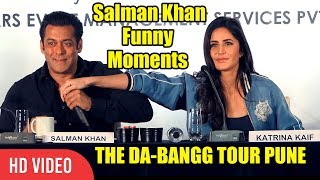 Video CRAZY Salman Khan All Funny Moments With Katrina Kaif At DA-BANGG Tour PUNE MP3, 3GP, MP4, WEBM, AVI, FLV April 2018