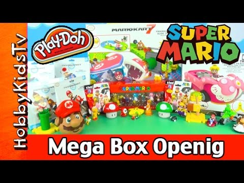 box - HobbyKidsTV presents Play-Doh Super Mario Mega Box Opening with surprises! Watch HobbyDad and HobbyKids open up and build awesome Super Mario Toys. Watch tell the end so you can see what...