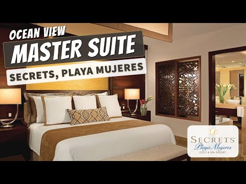 Master Suite Ocean View | Secrets Playa Mujeres Resort | Full Walkthrough Tour | 4K