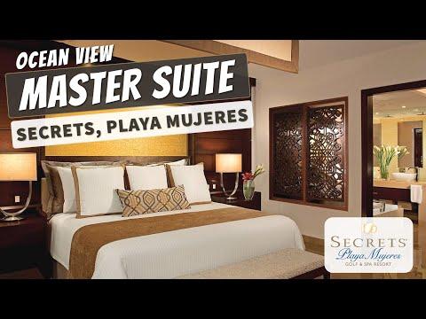 Master Suite Ocean View   Secrets Playa Mujeres Resort   Full Walkthrough Tour   4K