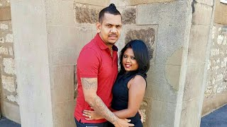 Sunil Narine with Wife Nandita Kumar | West Indies VS England 2019 Cricket Series