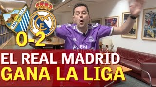 "Video Málaga 0-2 Real Madrid | Roncero, eufórico: ""¡Campeooooones!"" 