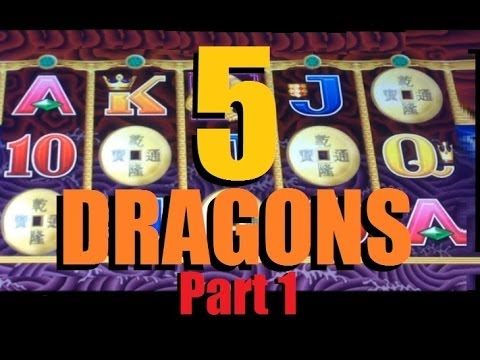 BIG WIN!! 5 Dragons Legends Slot Machine Bonus! ~ Aristocrat (5 Dragons Part 1 of 2)