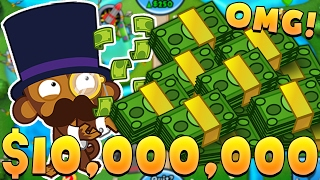 HOW TO MAKE $15,000,000 (HIGHEST ROUND EVER)! - BLOONS TOWER DEFENSE BATTLES (BTD BATTLES)