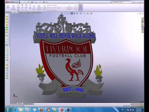 Logo 3d Liverpool Made By Solidworks