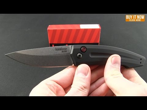 "Kershaw Launch 2 Automatic Knife Black Aluminum (3.4"" Stonewash) 7200"