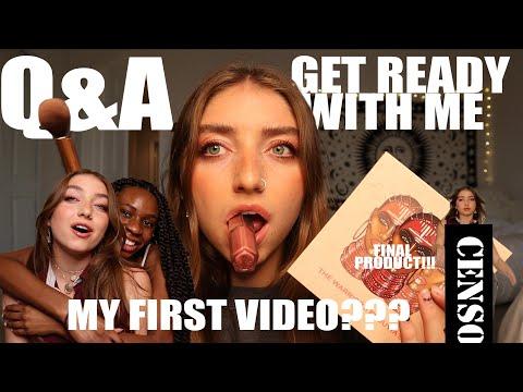 MY FIRST YOUTUBE VIDEO??//GRWM+Q&A