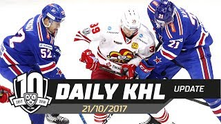 Daily KHL Update - October 21st, 2017 (English)