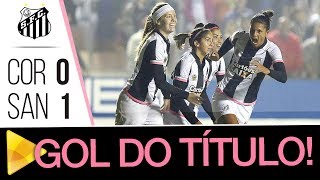 É CAMPEÃO, É CAMPEÃO! As Sereias da Vila foram até Barueri, venceram o Corinthians por 1 a 0, com mais um gol de Sole Jaimes, e se sagraram as grandes campeãs do Brasileirão 2017! Booooa, Meninas! Vocês merecem!Inscreva-se na Santos TV e fique por dentro de todas as novidades do Santos e de seus ídolos! http://bit.ly/146NHFUConheça o site oficial do Santos FC: www.santosfc.com.brCurta nossa página no facebook: http://on.fb.me/hmRWEqSiga-nos no Instagram: http://bit.ly/1Gm9RCSSiga-nos no twitter: http://bit.ly/YC1k82Siga-nos no Google+: http://bit.ly/WxnwF8Veja nossas fotos no flickr: http://bit.ly/cnD21USobre a Santos TV: A Santos TV é o canal oficial do Santos Futebol Clube. Esteja com os seus ídolos em todos os momentos. Aqui você pode assistir aos bastidores das partidas, aos gols, transmissões ao vivo, dribles, aprender sobre o funcionamento do clube, assistir a vídeos exclusivos, relembrar momentos históricos da história com Pelé, Pepe, e grandes nomes que só o Santos poderia ter.Inscreva-se agora e não perca mais nenhum vídeo! www.youtube.com/santostvoficial-------------------------------------------------------------** Subscribe now and stay connected to Santos FC and your idols everyday!http://bit.ly/146NHFUVisit Santos FC official website: www.santosfc.com.brLike us on facebook: http://on.fb.me/hmRWEqFollow us on Instagram: http://bit.ly/1Gm9RCSFollow us on twitter: http://bit.ly/YC1k82Follow us on Google+: http://bit.ly/WxnwF8See our photos on flickr: http://bit.ly/cnD21UAbout Santos TV: Santos TV is the official Santos FC channel. Here you can be with your idols all the time. Watch behind the scenes, goals, live broadcasts, hability skills, learn how the club works, exclusive videos, remember historical moments with Pelé, Pepe and all of the awesome players that just Santos FC could have. Subscribe now and never miss a video again! www.youtube.com/santostvoficial