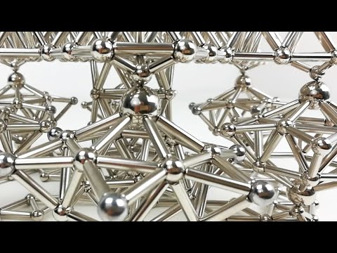 Satisfying Dynamic Sculpture, Magnetic Gears | Magnetic Games (видео)