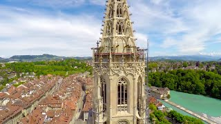 Bern Switzerland  city photo : BERN, Switzerland Aerials - 4K UHD