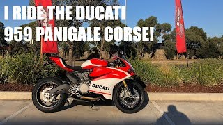 3. I ride the new 2018 Ducati Panigale 959 Corse!