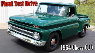"This is our final video of the 1964 Chevrolet C10, from Manns Restoration, in Festus, MO.  The restoration was recently completed and this was the final test drive.  They really did a beautiful job as usual.  It retains the factory appearance, but has been upgraded a bit for better safety, performance, and driveablity.  The transmission was swapped for a 700r4, for better performance and effortless highway cruising. It was also updated with a new master cylinder, booster, and front disc brakes for better stopping ability.   This truck should provide the owners with many years of reliable service.  We hope you find it interesting, thank you for taking a look!Filmed at Manns Restoration, in Festus, MOhttp://mannsrestoration.com/Restoration/Default.aspxThe background track is ""Flow"", by Shawn James.  This video is not monetized, nor do we claim any rights to the music.  If you're interested, Shawn's music is available for purchase online."