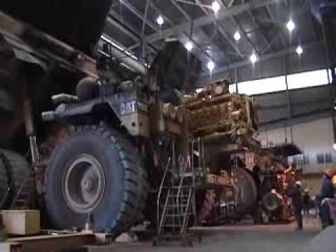 Instalación de motor a Camión gigante