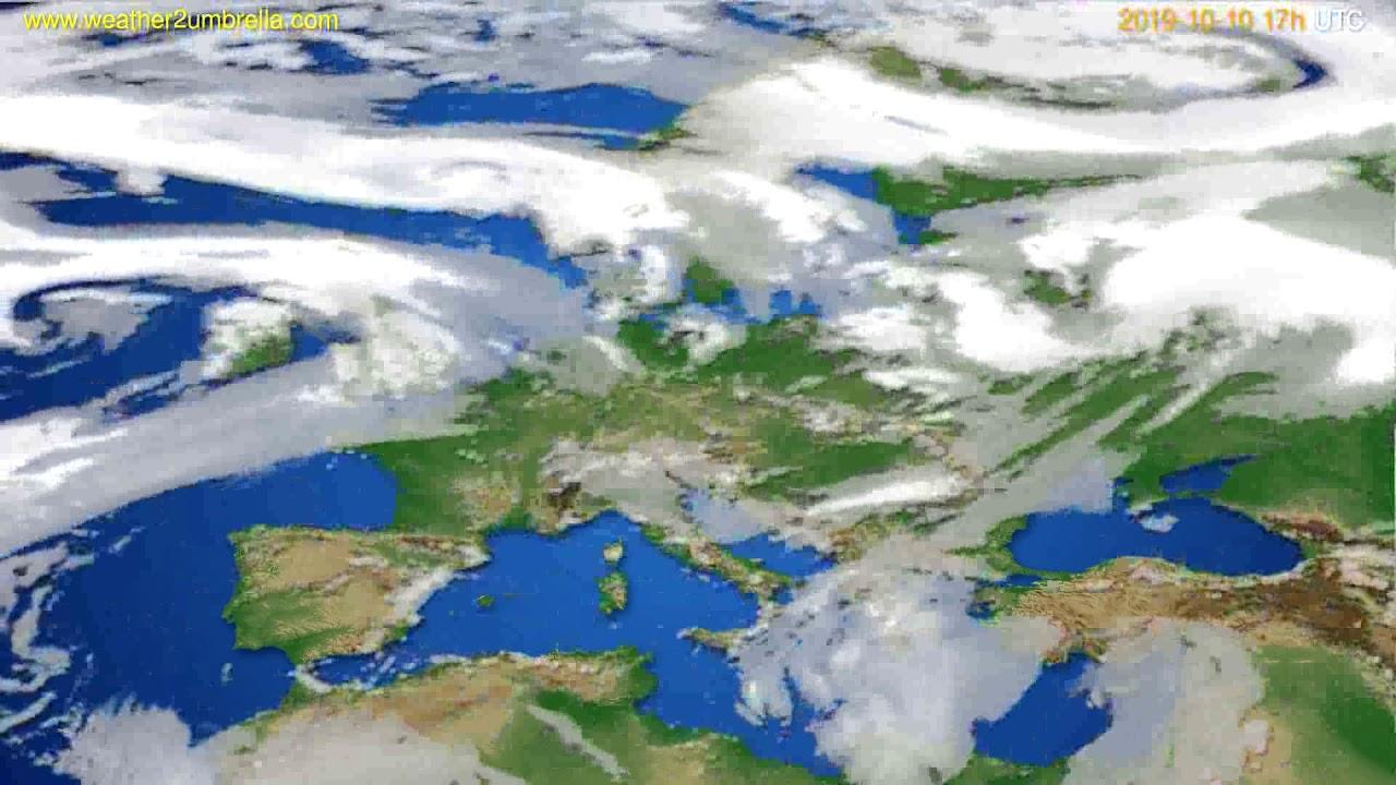 Cloud forecast Europe // modelrun: 00h UTC 2019-10-09