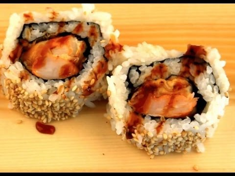 How To Make Sushi - Shrimp Tempura Rolls