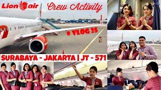 Video Apa aja sih kegiatan PRAMUGARI didalam Pesawat ? Onboard Lion Air | JT - 571 | SUB - CGK VLOG25 MP3, 3GP, MP4, WEBM, AVI, FLV Mei 2019