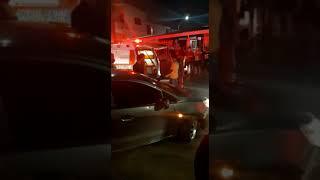 Aparatoso accidente de tránsito deja a un ciclista lesionado al ser arrollado en Barranquilla