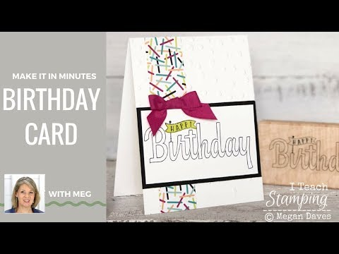 Make A Birthday Card In Minutes