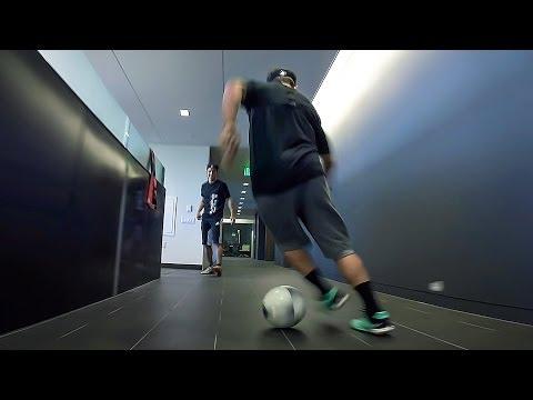 office soccer - go pro