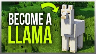 •️ How to Become a LLAMA in Minecraft! (Mod)