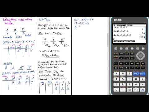Matematik 1 Genomgång Talsystem med olika baser HT 20