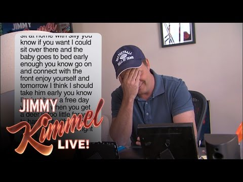 Kimmel reads mom texts