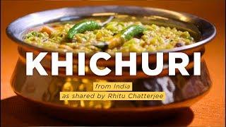 NPR food editor Rhitu Chatterjee is from Kolkata, India. Here she makes khichuri, a fragrant, one-pot rice and lentil dish flavored...