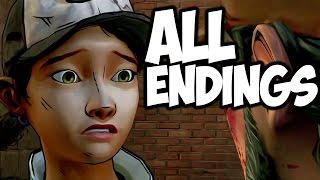 The Walking Dead: Season 2 - All Endings - ALL OUT OF TEARS..