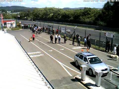Nurburgring Webcam Timelapse taken 22nd May 2009