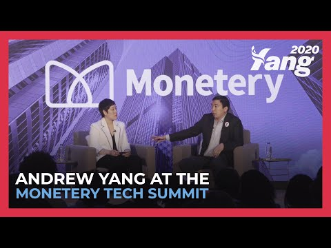 Andrew Yang At The Monetery Tech Summit In Iowa