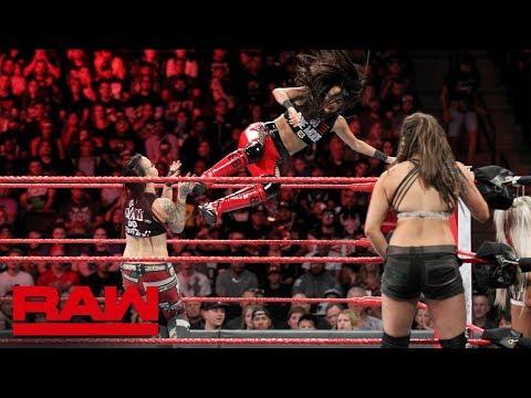 The Bella Twins & Natalya vs. The Riott Squad: Raw, Sept. 24, 2018