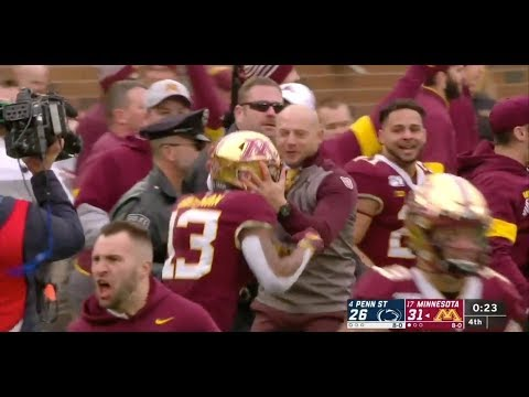 No. 17 Minnesota Upsets No. 4 Penn State On Game-Winning Interception