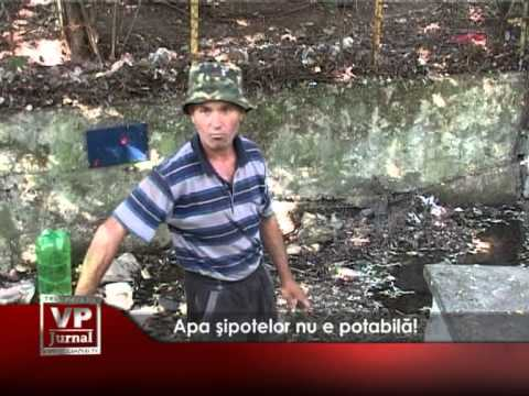 Apa şipotelor din Câmpina nu e potabilă