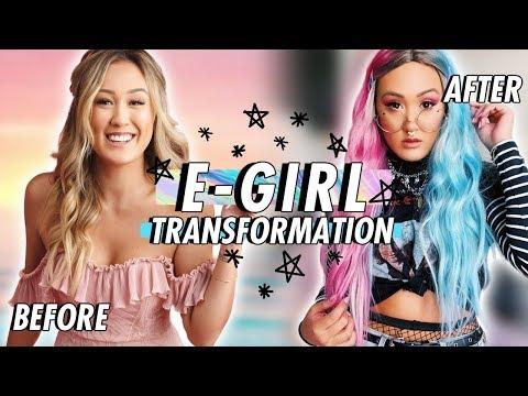 E-GIRL TRANSFORMATION & DIYs