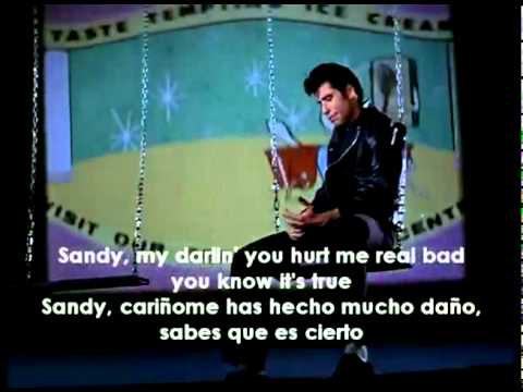 John Travolta - Sandy lyrics