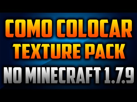COMO COLOCAR TEXTURE PACK NO MINECRAFT 1.7.9