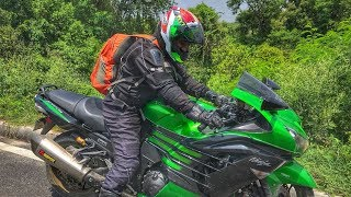 9. Riding Kawasaki Ninja ZX14R