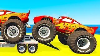 Lightning McQueen CARS Transportation & Spiderman Kids Cartoon...