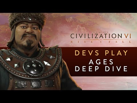 Civilization VI: Rise and Fall - Devs Play Mongolia & Netherlands (Ages Deep Dive)