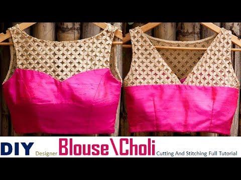 DIY Designer Princess Cut Blouse\Choli Cutting And Stitching full Tutorial