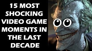 """There's nothing like that moment when a video game does something that just makes you stop, put your controller down, and marvel at what you've just witnessed. Something so ballsy or so breathtaking that it makes you go- """"holy shit"""". How a game does that, of course, can vary depending on what game you're playing. It can be anything from a major twist or an incredible boss fight to something visually gorgeous or an ingenious piece of game design that makes you do a double take.Here are fifteen moments from the last decade when a video game had that sort of an impact on us. SUBSCRIBE FOR MORE VIDEOS: https://www.youtube.com/user/GamingBoltLiveLIKE US ON FACEBOOK:https://www.facebook.com/GamingBolt-Get-a-Bolt-of-Gaming-Now-241308979564/?fref=tsFOLLOW US ON TWITTER:https://twitter.com/GamingBoltTweet"""