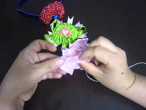 Manualidades y accesorios la hormiga. como hacer una flor en citas. hair accessories video No.82
