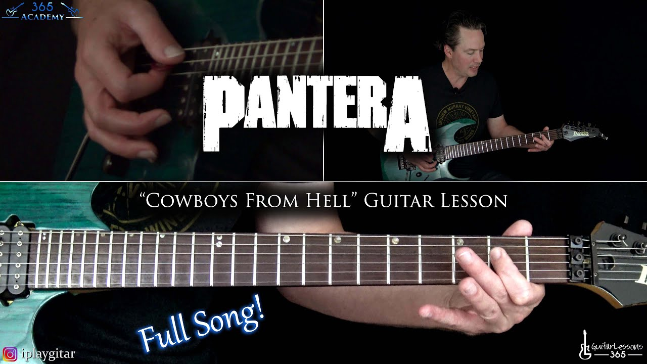Pantera – Cowboys From Hell Guitar Lesson (Full Song)