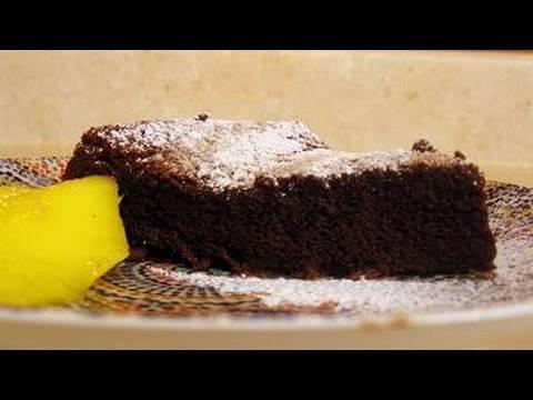 עוגת שוקולד קלה ללא קמח