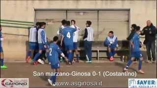Preview video <strong>Juniores: SAN MARZANO-GINOSA 1-2 Ginosa corsaro anche a San Marzano con Costantino e Criscuolo</strong>