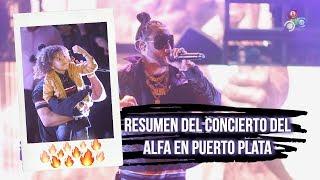 """Resumen del concierto De """"El Alfa"""" en El Anfiteatro Juan Lockward de Puerto Plata"""