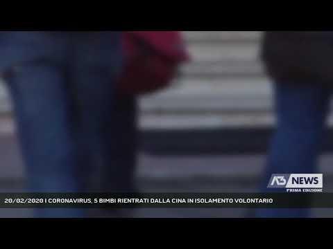 20/02/2020   CORONAVIRUS, 5 BIMBI RIENTRATI DALLA CINA IN ISOLAMENTO VOLONTARIO